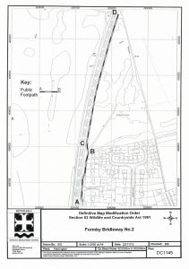 Map showing bridlepath No2